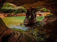 岩石河流自然风光桌面壁纸
