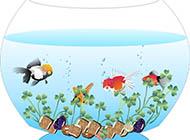 鱼缸淡雅蓝色背景图高清