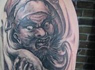个性霸气的钟馗黑白纹身套图