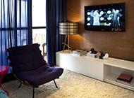 100平米时尚公寓现代风格装修效果图