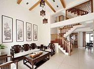 时尚淡雅的中式别墅装修设计图片