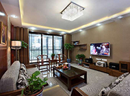 家庭现代温馨装修电视背景墙效果图