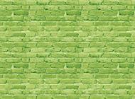 好看的绿色砖墙背景图片