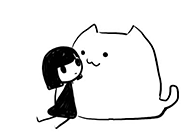 超萌卡通人物简笔画 别问我爱不爱你