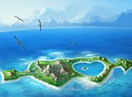 适合演讲的海岛ppt背景图片