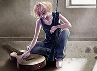 动漫唯美吉他女生图片