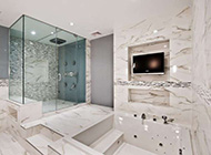 低调奢华大理石材质卫浴装修