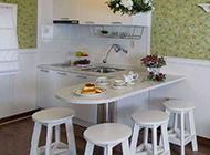 厨房内吧台现代装修效果图时尚创意