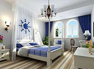 地中海卧室清新装修效果图