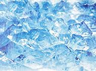 冰面蓝色精美背景图