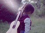 吉他女生qq伤感意境图
