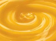 黄色流动的液体背景高清图片