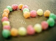 心形糖果图片七彩梦幻