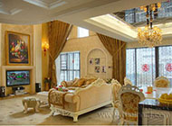 奢华时尚客厅窗帘效果图