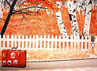 幻灯片背景图片唯美秋季枫叶