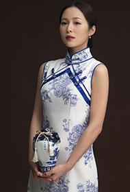 中国女演员江一燕穿旗袍彰显古典之美