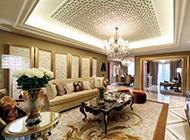 欧式客厅吊顶装修图片奢华精美