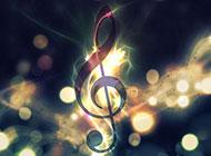 梦幻光晕与音符背景图片素材