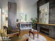 原木打造自然舒适复式公寓装修设计