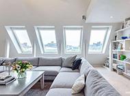 140平米阁楼公寓纯白现代简约装修效果图