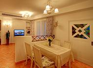 美式田园客厅小清新主题装修图片