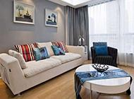 100平两居室现代简约清爽装修效果图