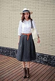 张念恩森女系风格时尚街拍