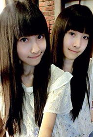 萝莉双胞胎Sandy&Mandy清纯甜美照