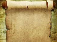 复古羊皮卷轴ppt背景图片素材