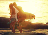 浪漫素雅甜蜜爱侣唯美意境风景图