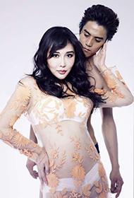 中国内地女演员陈美行性感透视装诱惑照