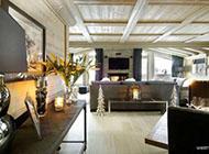 现代黑白色调美式别墅装修效果图