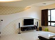 时尚温馨客厅电视背景墙装修效果图欣赏