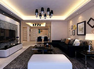 时尚大气的客厅电视背景墙效果图