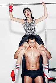 小S与肌肉男暧昧互动时尚写真大片