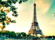 浪漫埃菲尔铁塔唯美风景精致背景图