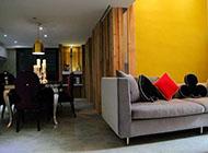 时尚森林系创意挑高靓色跃层式住宅