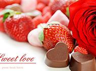 浪漫情人节礼物玫瑰和巧克力图片