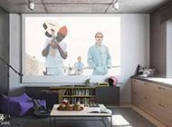 清新艺术简约风公寓装修设计案例图
