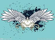 带翅膀的唯美卡通背景图素材
