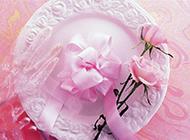 玫瑰花丝带蝴蝶结高清图片素材