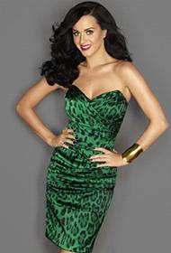 凯蒂·佩里性感抹胸裙勾勒完美窈窕身材