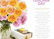 花束与书本白色背景素材