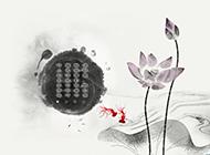 淡雅中国风水墨画背景图片