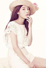 韩国气质女明星瑜斌蕾丝写真