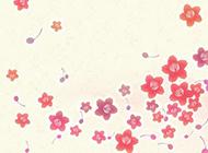 小清新植物彩色素描背景图片素材