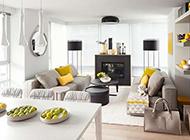 三居室简约时尚装修效果图清新个性