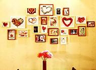 家庭餐厅唯美相片墙设计图片