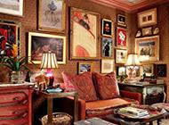 小户型复古风格客厅装修效果图大全