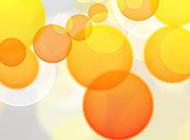 背景图片可爱橘黄梦幻光晕